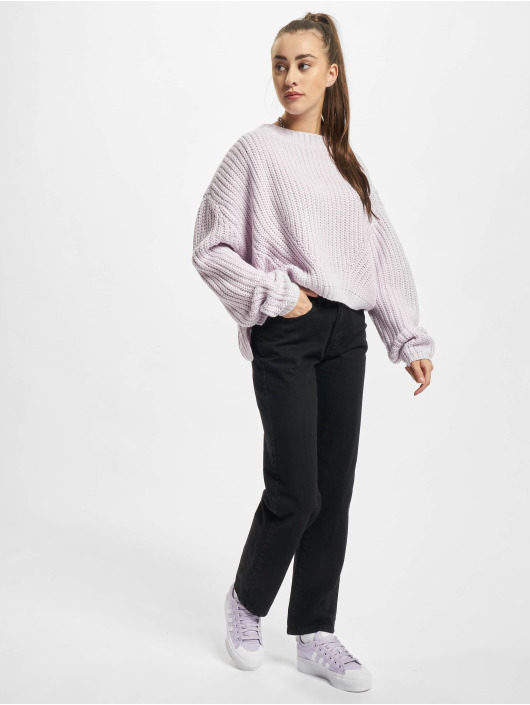 Urban Classics Swetry Ladies Wide Oversize fioletowy