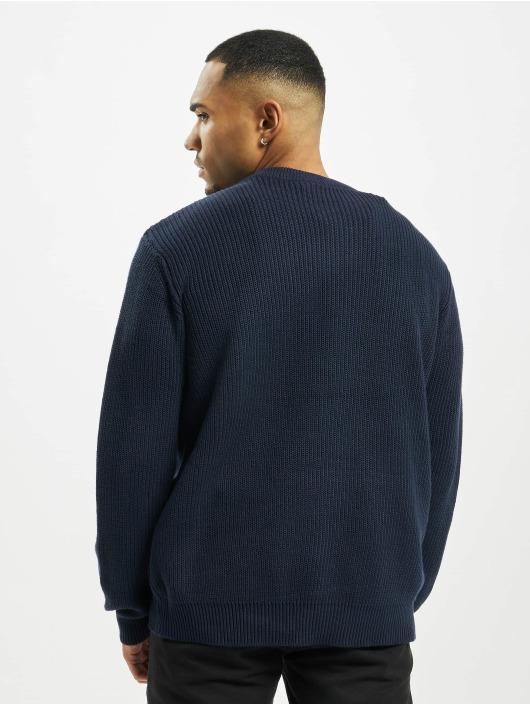 Urban Classics Swetry Cardigan Stitch niebieski