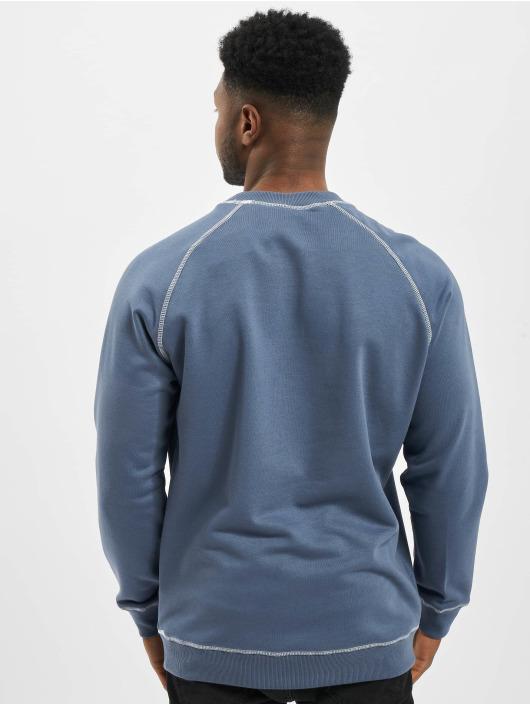 Urban Classics Swetry Contrast Stitching Crew niebieski