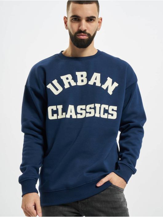 Urban Classics Swetry College Print niebieski
