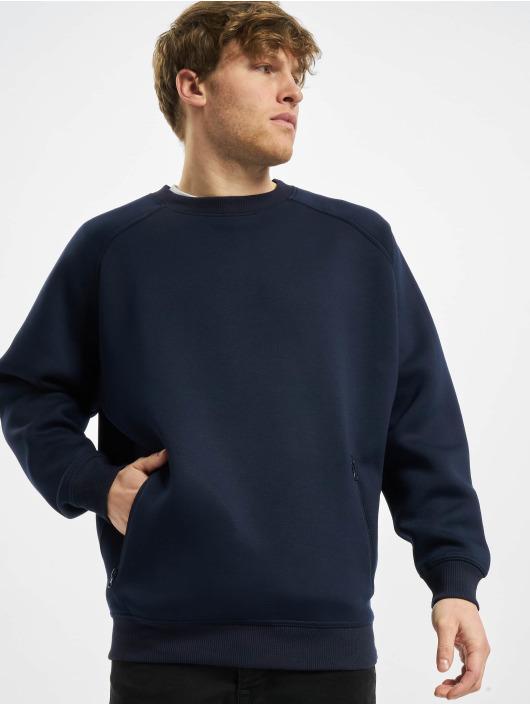 Urban Classics Swetry Raglan Zip Pocket Crew niebieski