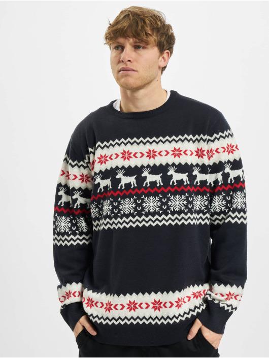 Urban Classics Swetry Norwegian Christmas niebieski