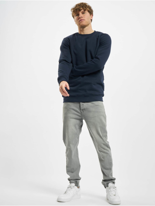 Urban Classics Swetry Organic Basic Crew niebieski