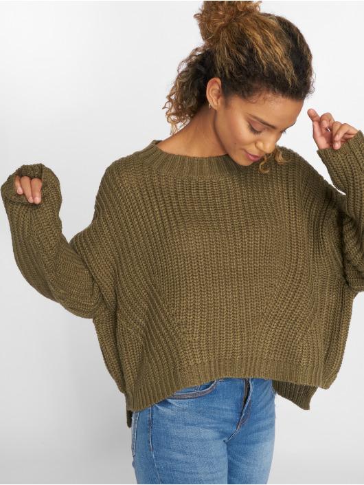 Urban Classics Swetry Wide Oversize oliwkowy