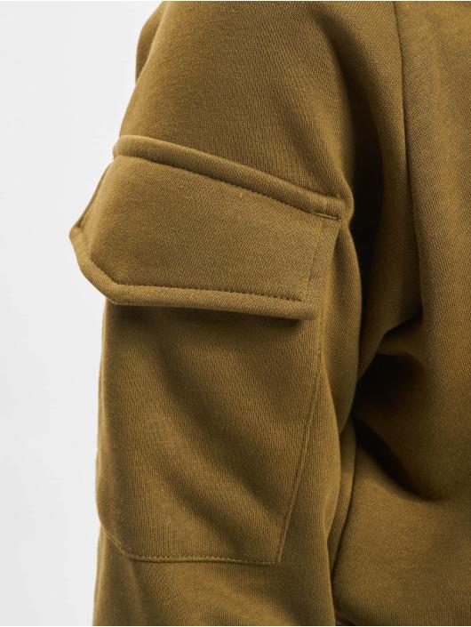 Urban Classics Swetry Short Worker Crewneck oliwkowy