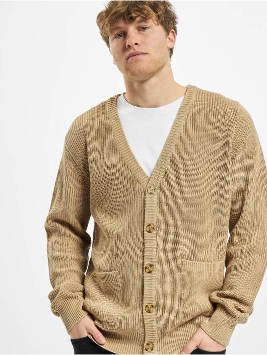 Urban Classics Swetry rozpinane Boxy bezowy
