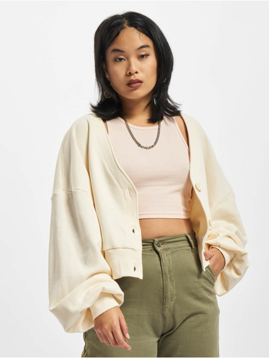 Urban Classics Swetry rozpinane Ladies Organic Oversized bezowy