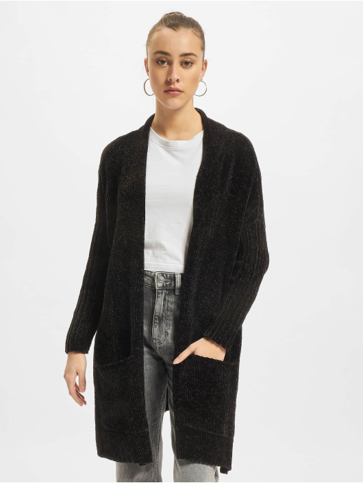 Urban Classics Swetry rozpinane Oversize Chenille czarny