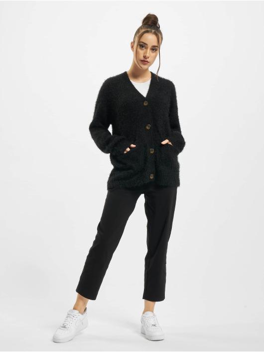 Urban Classics Swetry rozpinane Ladies Feather czarny
