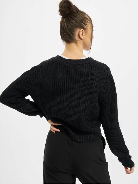 Urban Classics Swetry rozpinane Ladies Short czarny