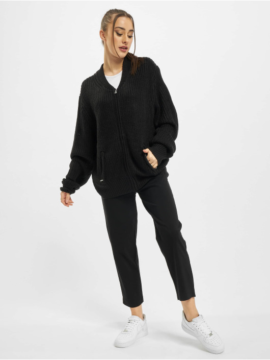 Urban Classics Swetry rozpinane Ladies Knit Bomber czarny