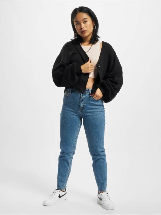 Urban Classics Swetry rozpinane Ladies Organic Oversized Short Terry czarny