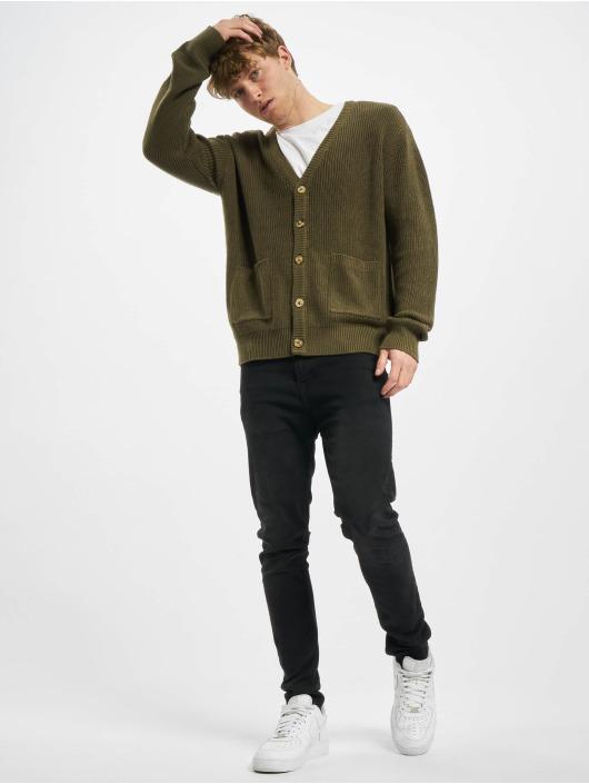Urban Classics Swetry rozpinane Boxy oliwkowy