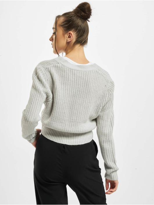 Urban Classics Swetry rozpinane Ladies Short szary