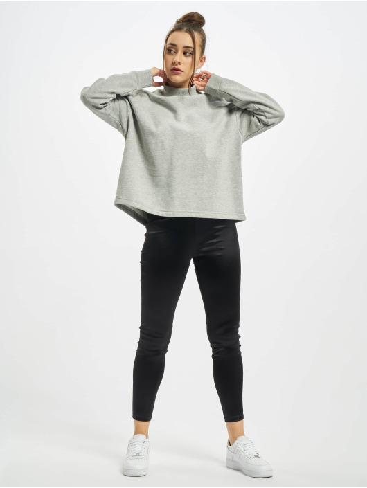 Urban Classics Swetry Ladies Oversized High Neck Crew szary