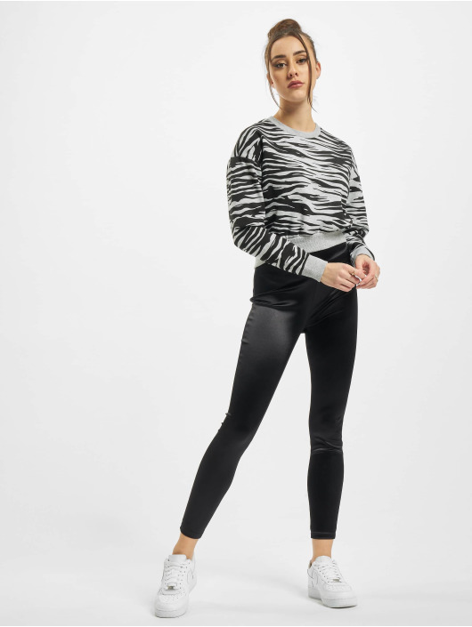 Urban Classics Swetry Ladies AOP Short Tiger Crew szary