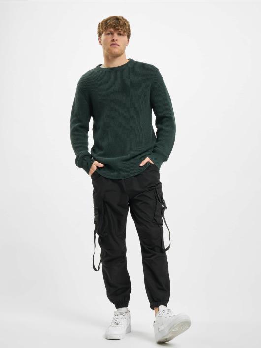 Urban Classics Swetry Cardigan Stitch zielony