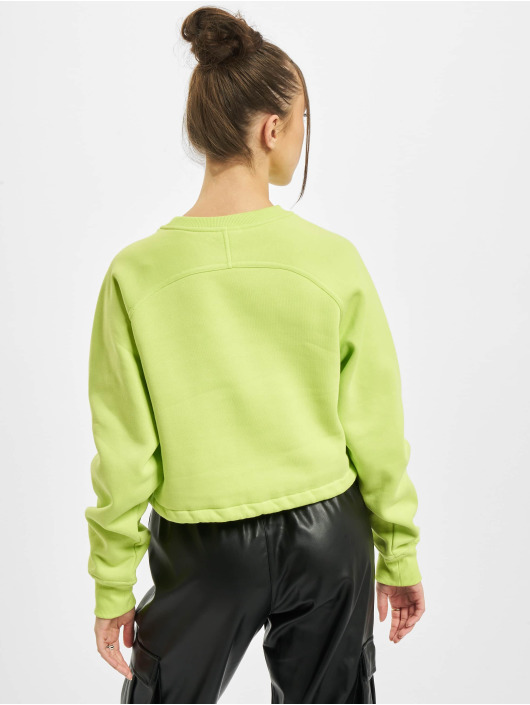 Urban Classics Swetry Ladies Oversized Short Raglan Crew zólty