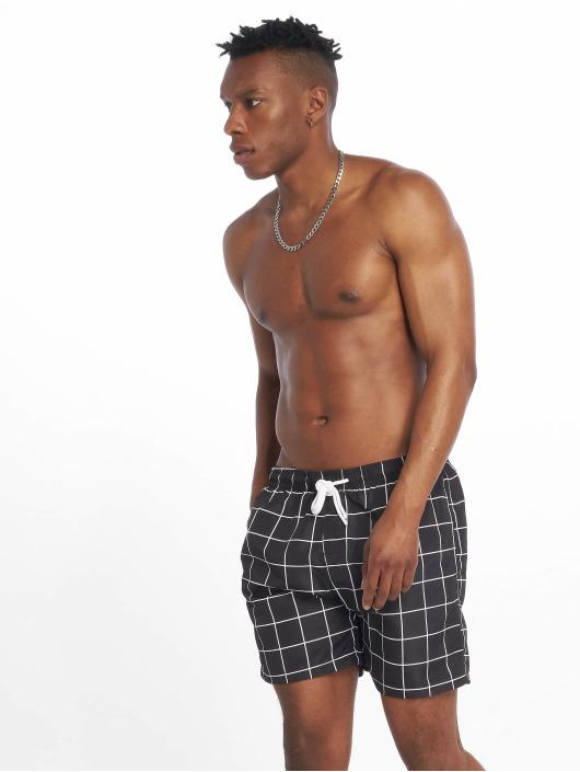 Urban Classics Swim shorts Check Swim black