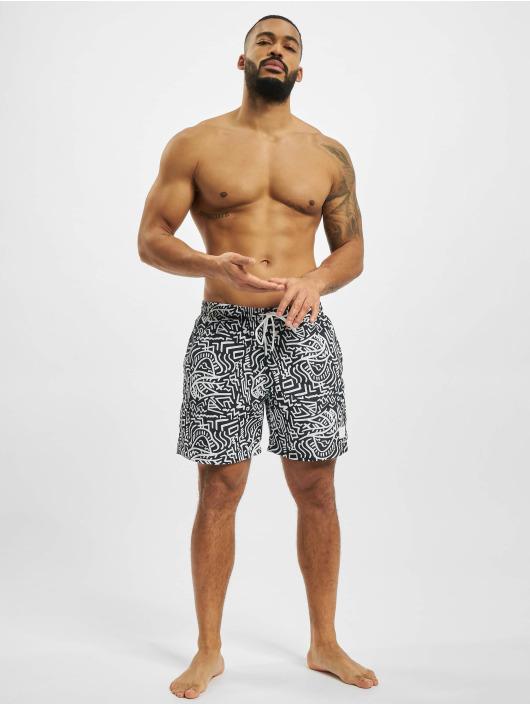 Urban Classics Swim shorts Pattern  Swim black