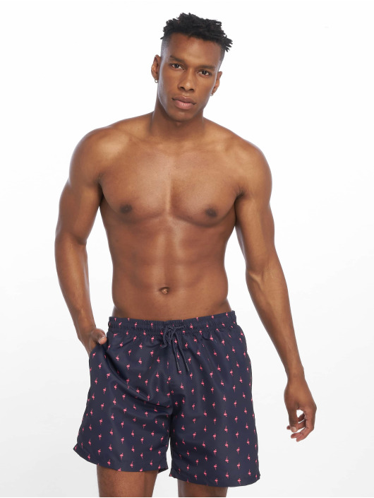 Urban Classics Swim shorts Pattern  blue