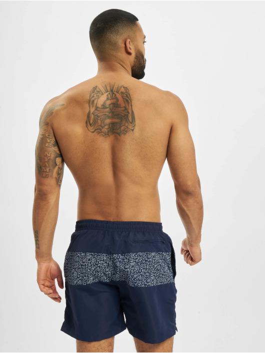 Urban Classics Swim shorts Mid Block Pattern blue