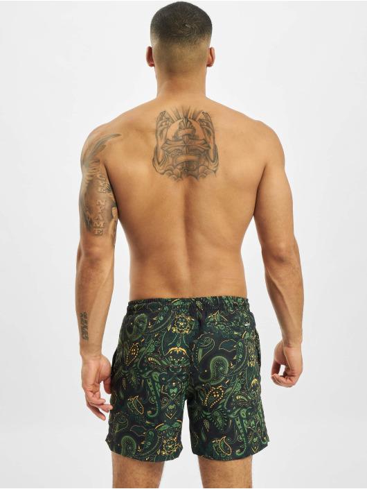 Urban Classics Swim shorts Paisley green