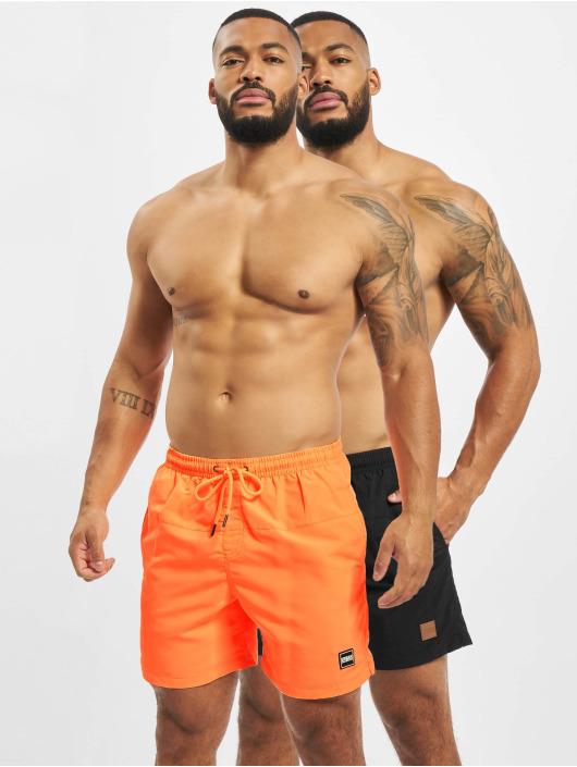 Urban Classics Swim shorts Block  2-Pack orange