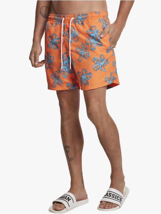 Urban Classics Swim shorts Floral orange