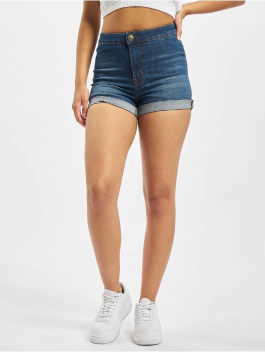 Urban Classics Szorty Ladies 5 Pocket Slim Fit niebieski