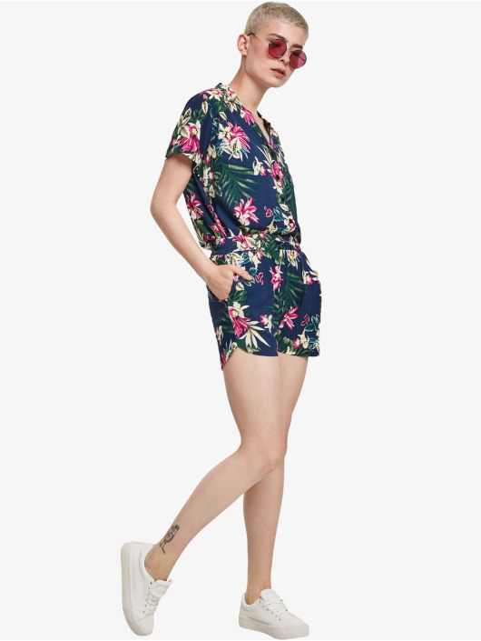 Urban Classics Szorty Ladies All Over Print Viscose Resort niebieski