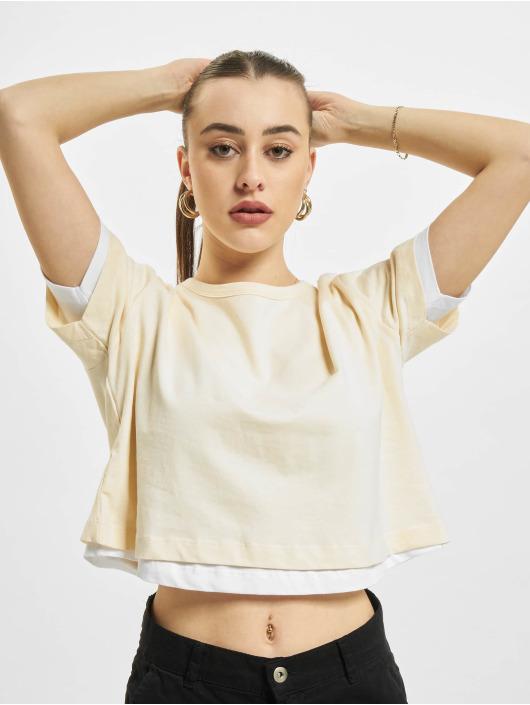 Urban Classics T-paidat Full Double Layered beige