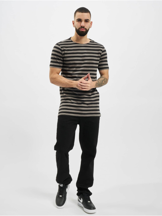 Urban Classics T-paidat Stripe Tee harmaa