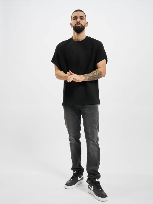 Urban Classics T-paidat Cut On Sleeve Naps Interlock musta