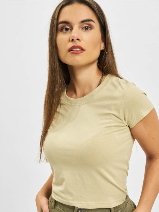 Urban Classics T-Shirt Stretch Jersey Cropped beige