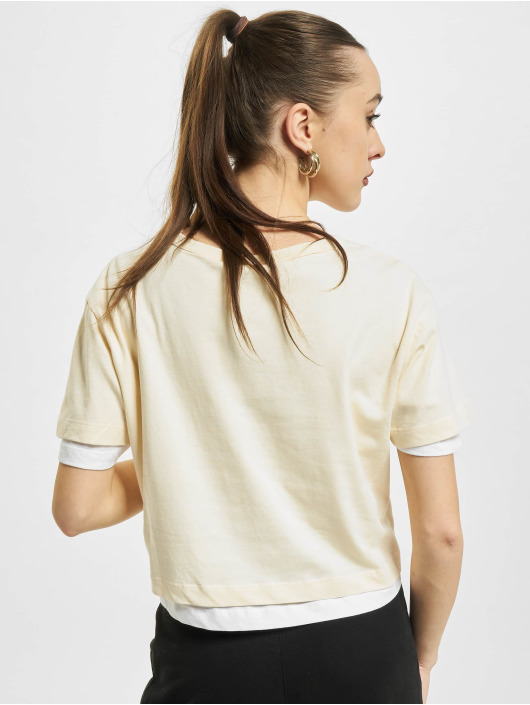 Urban Classics t-shirt Full Double Layered beige