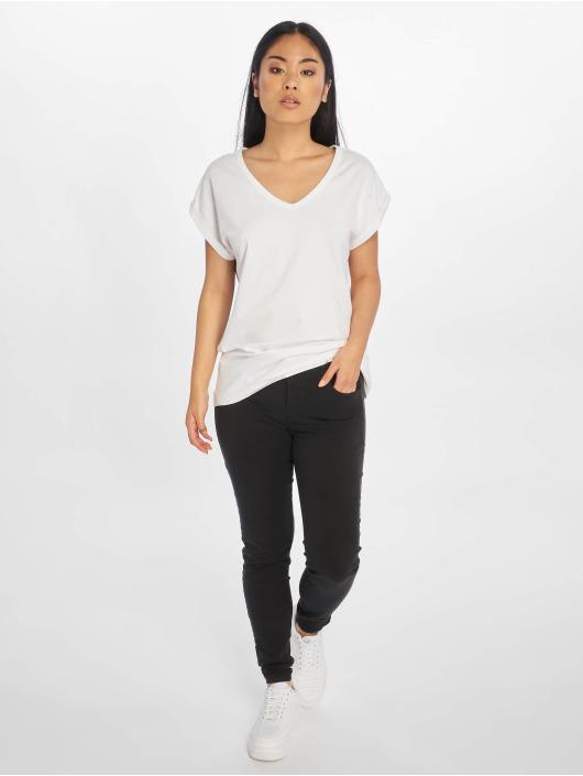Urban Classics T-shirt Extended Shoulder bianco