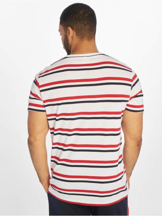 Urban Classics T-shirt Yarn Dyed Skate Stripe bianco