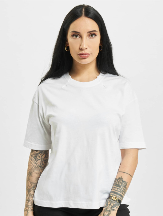 Urban Classics T-shirt Organic Oversized Pleat 2-Pack bianco