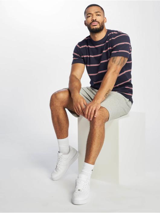 Urban Classics T-shirt Yarn Dyed Skate Stripe blå