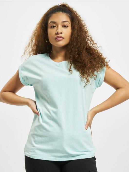 Urban Classics T-shirt Color Melange Extended Shoulder blå