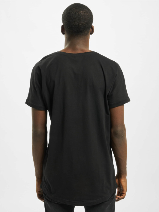 Urban Classics T-Shirt Long Shaped Turnup black