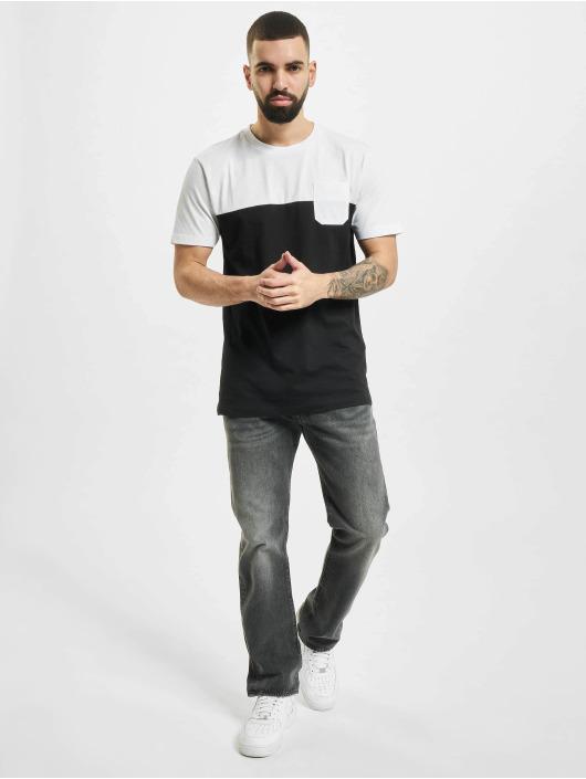 Urban Classics T-Shirt Color Block Summer Pocket black