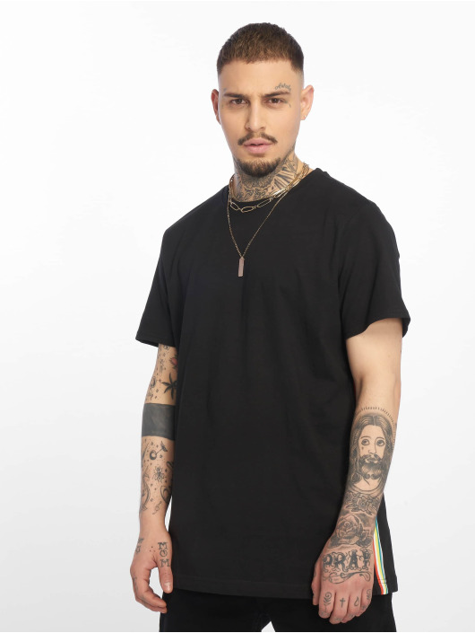 Urban Classics T-Shirt Side Taped black