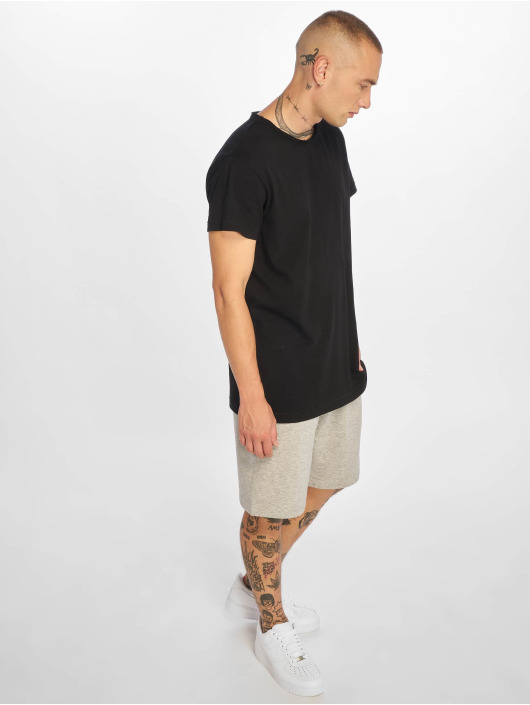 Urban Classics T-Shirt Pigment Dye High Low black