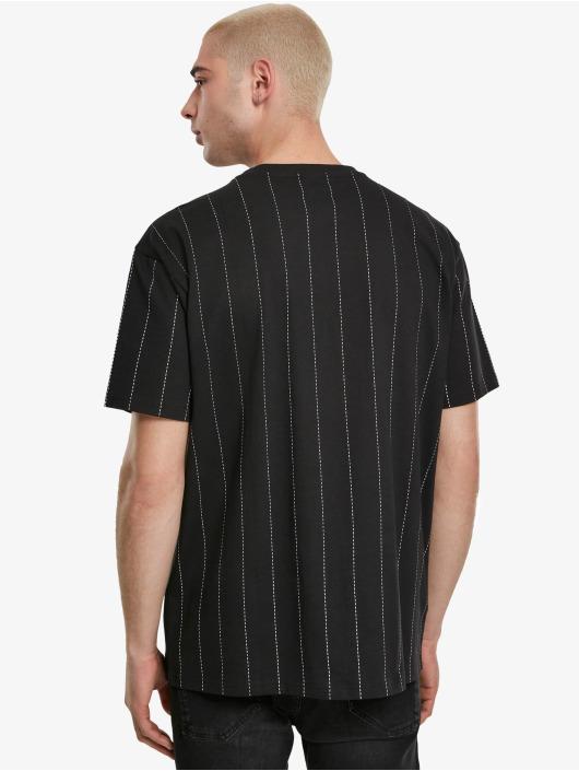 Urban Classics T-Shirt Oversized Pinstripe black