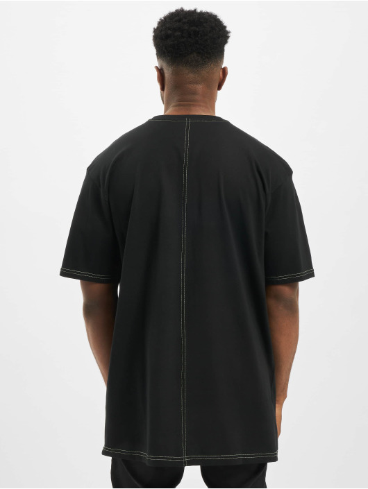 Urban Classics T-Shirt Heavy Oversized Contrast Stitch black