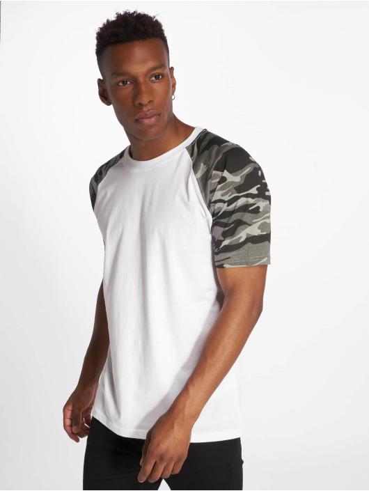 Urban Classics T-Shirt Raglan Contrast blanc