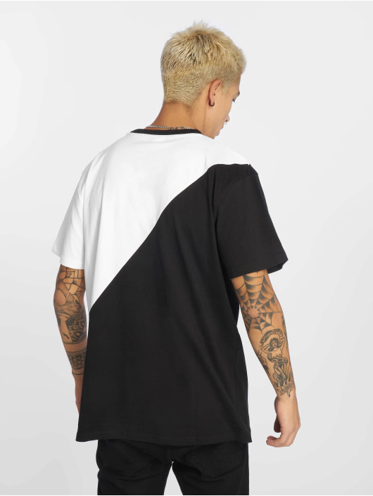 Urban Classics T-Shirt Oversize Asymmetric Harlequin blanc