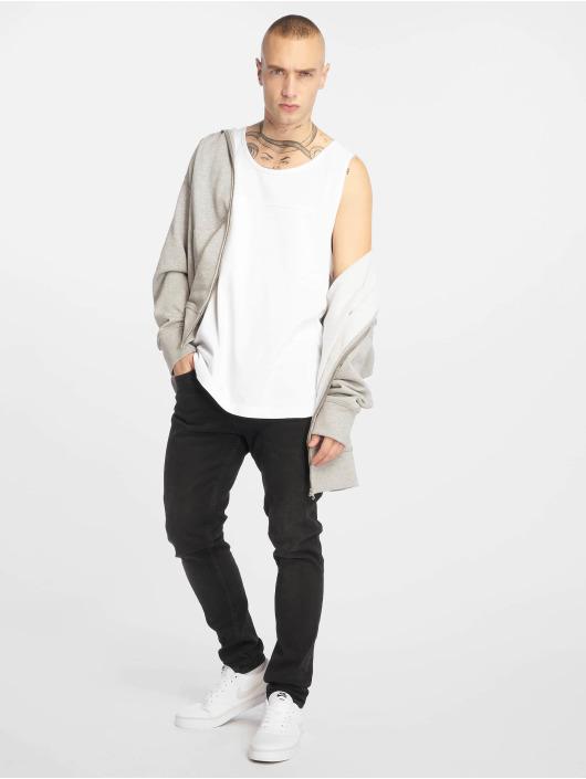 Urban Classics T-Shirt Mesh Panel blanc